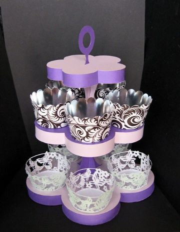 Cupcake Stand with Mini Cupcake Cases